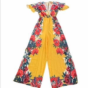 Flying Tomato XS Jumpsuit Multicolor Floral